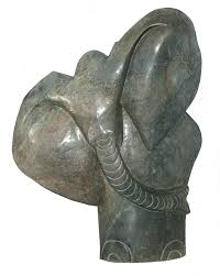 Elephant Statue African Shona Art Stone Garden Elephant Sculpture 73 X 55 X 17 Cm