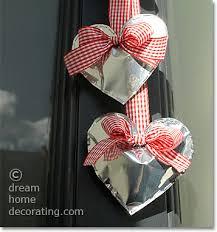 valentines door decorations door decorations to make shiny silver heart