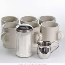 Porcelain Coffee Mugs Diner Mug Set Of 6 With Creamer And Sugar Dispenser Kitchen