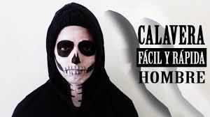 imagenes de calaveras hombres maquillaje halloween calavera fácil y rápida hombre youtube