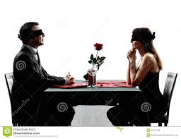 dinner silhouette couples lovers blind date dating dinner silhouettes stock photo