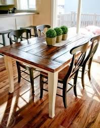 farmhouse dining table with bench foter
