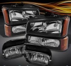 2003 chevy silverado fog lights chevy silverado 2003 2006 black headlights set and smoked fog lights