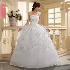 cheap bridal gowns cheap wedding dress one shoulder bridal gown with low price