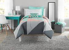 Twin Size Bed In A Bag Gray And Teal Bed In A Bag Comforter Set Mint Twin Twin Xl