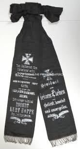 funeral ribbon german great war 1914 1918 funeral ribbon banner for the somme 1916