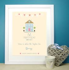 personalised u0027home sweet home u0027 print by the little paper company