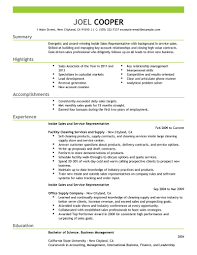 Resume Samples For Cleaning Job by Best Inside Sales Resume Example Livecareer