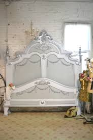 painted cottage shabby french linen romantic bed ib silver