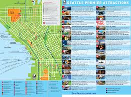 Seattle Monorail Map by Maps Update 14882105 Tourist Attractions Map In Seattle