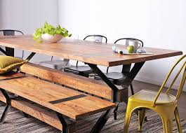cool industrial look table and chairs from vast interior