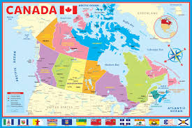 capital of canada map map of modern canada athena posters