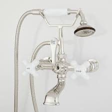 wall mount waterfall tub faucet with hand shower wall mount tub