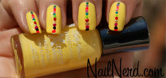 nail nerd nail art for nerds dotted yellow nails