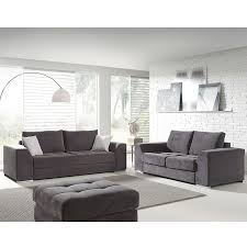 ensemble canapé 3 2 ensemble canapés 3 et 2 places gris en tissu sofamobili
