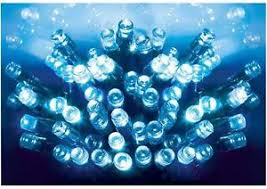 Outdoor Christmas Decorations Battery Operated Lights by 50 Blue Led Xmas Lights Indoor Outdoor Christmas Decoration