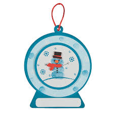 thumbprint snowman ornament craft kit orientaltrading com