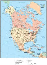america map zoom america map multi color with countries cities and
