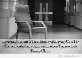 Empty Chair Poem Parents Quotes