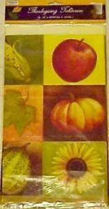 thanksgiving plastic tablecloth autumn fall harvest pumpkin 54 x