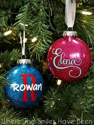 ornaments to personalize diy personalized glitter ornaments