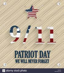 9 11 Remembrance Flag 9 11 Patriot Day Poster Wooden Background Usa Flag On Numbers