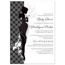 baby shower tea invitation black gray and white sophisticated