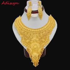 big size necklace images New gold color arab ethiopian jewelry big size necklace earrings jpg