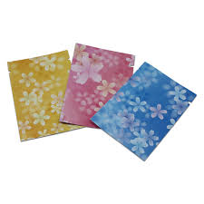 mylar wrapping paper open top aluminium foil print flower food packaging storage bag