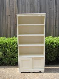 furniture antique white bookcase distressed book shelf