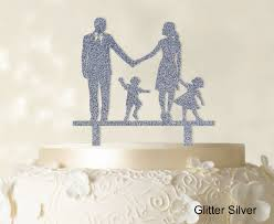 w cake topper wedding cake topper family silhouette and groom with child