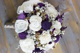 wedding flowers lavender purple lavender ivory winter bouquet sola flower bridal