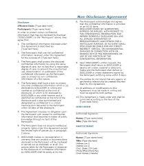 40 non disclosure agreement templates samples u0026 forms template