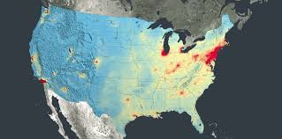 Map Of American States New Nasa Images Highlight U S Air Quality Improvement Nasa