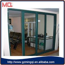 modern design interior tempered glass partition sliding door for