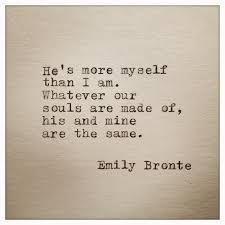 emily bronte quote typed on typewriter