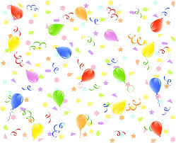 birthday ribbons illustration of a birthday background with balloons ribbons