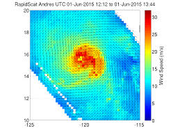 imagery shows a weaker hurricane andres
