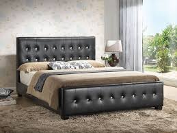 Bedroom Size For Queen Bed Amazon Com White Queen Size Modern Headboard Tufted Leather