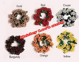 100 silk flower candle rings candle flower rings