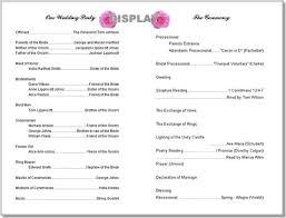 wedding bulletin templates 8 best wedding program templates images on bridal