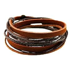bracelet leather wrap images Coolla alloy brown leather wristband wrap bracelet jpg