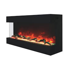 Indoor Electric Fireplace Amantii 50 Tru View Xl 50 Indoor Outdoor 3 Sided Electric
