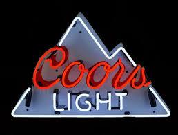 vintage coors light neon sign coors light beer neon sign bar beer neon signs garage art llc