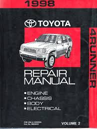 1998 toyota 4runner shop service repair manual vol 2 only wundr