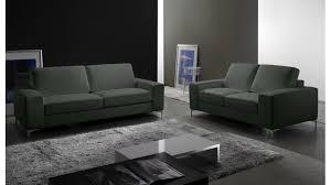 canapé cuir gris anthracite canapé 2 places en cuir pas cher canapé design