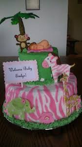 jungle baby shower cakes jungle baby girl cake ideas 57050 girl jungle theme baby s