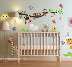 stickers jungle chambre bébé sticker enfant animaux jungle pour jules jungle