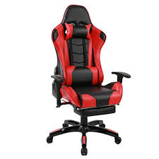 Recliner Computer Chair Andeworld Ergonomic Racing Gaming Chairs Pu Leather Swivel Office