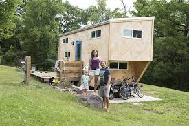 building a home in vermont living small a family of three makes a tiny house their home